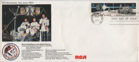 RIGO - 02.08.71 KSC - FDC - RCA cover