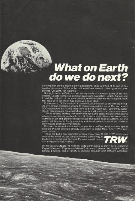 Anuncio de la compañía TRW