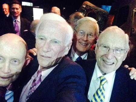 De izq. a dcha: Stafford (Apolo 10), Cernan (Apolo 10 y 17), Duke (Apolo 16) y Lovell (Apolo 13).