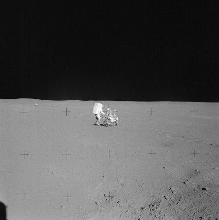Edgar Mitchell sobre la Luna