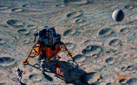 Apolo 14 golf - pintura Alan Bean