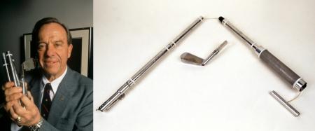 Alan Shepard y el palo utilizado para jugar al golf en la Luna