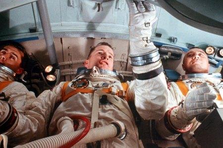 Tripulación del Apolo 1 durante un entrenamiento