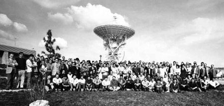 Todo el personal de la estación de Fresnedillas en el año 1972