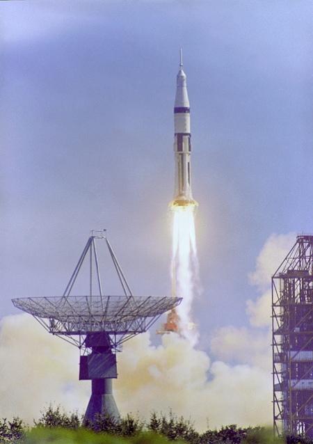 Despegue del Apolo 7. Octubre 1968.