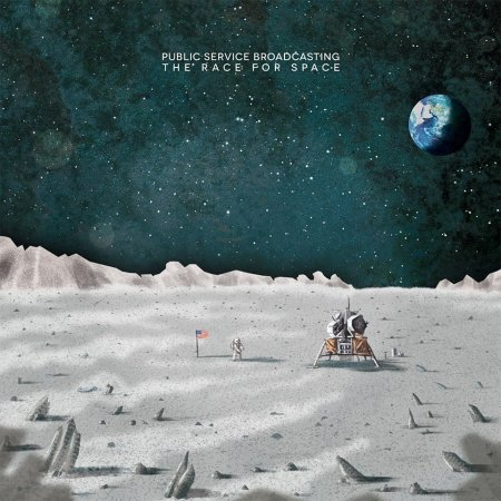 "Portada del albúm ""The race for Space"" de Public Service Broadcasting."